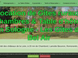 location gîte, chambre, table d'hôtes en Sologne Les Gîtes de Bel Air